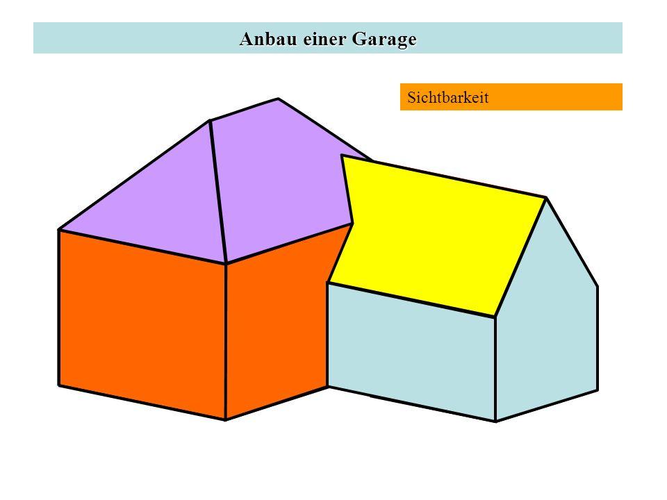 Anbau einer Garage Sichtbarkeit d P'
