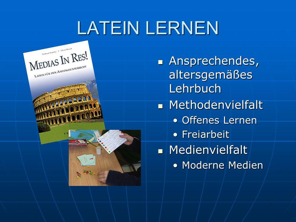 LATEIN LERNEN Ansprechendes, altersgemäßes Lehrbuch Methodenvielfalt