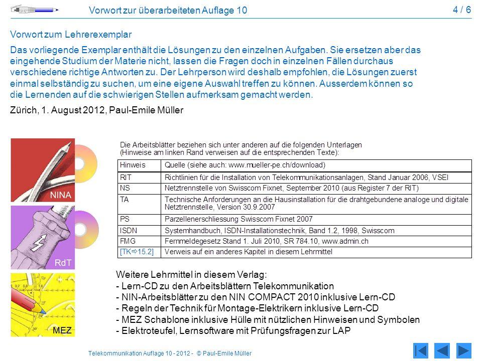 4 / 6 Vorwort zur überarbeiteten Auflage 10. Vorwort zum Lehrerexemplar.