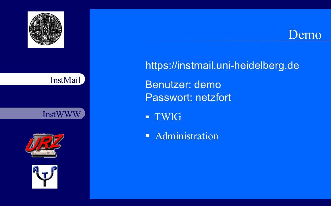 Demo https://instmail.uni-heidelberg.de