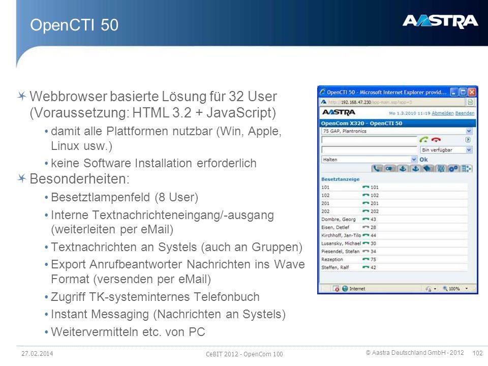 OpenCTI 50 Webbrowser basierte Lösung für 32 User (Voraussetzung: HTML 3.2 + JavaScript) damit alle Plattformen nutzbar (Win, Apple, Linux usw.)