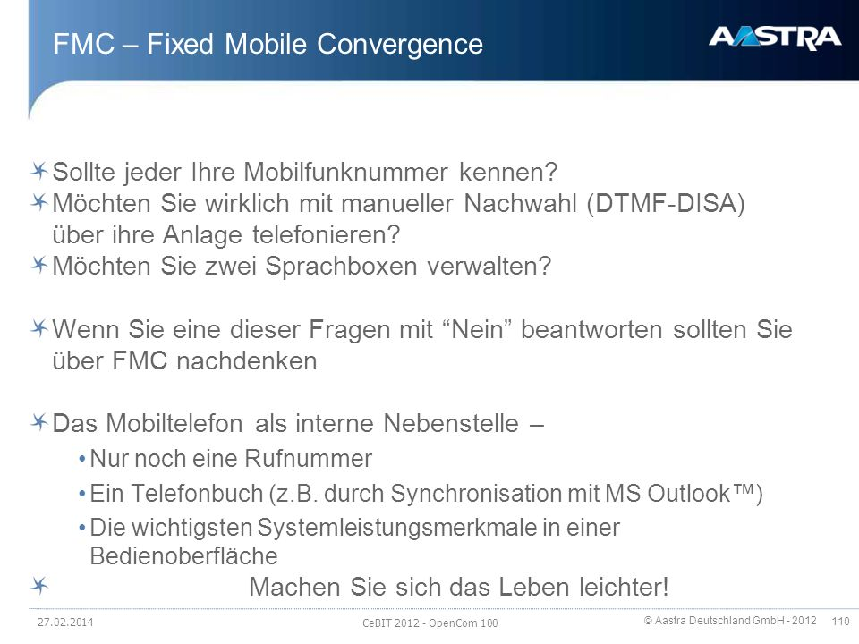 FMC – Fixed Mobile Convergence