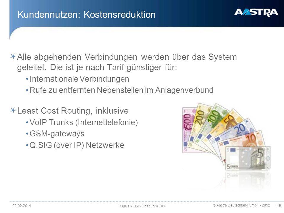Kundennutzen: Kostensreduktion