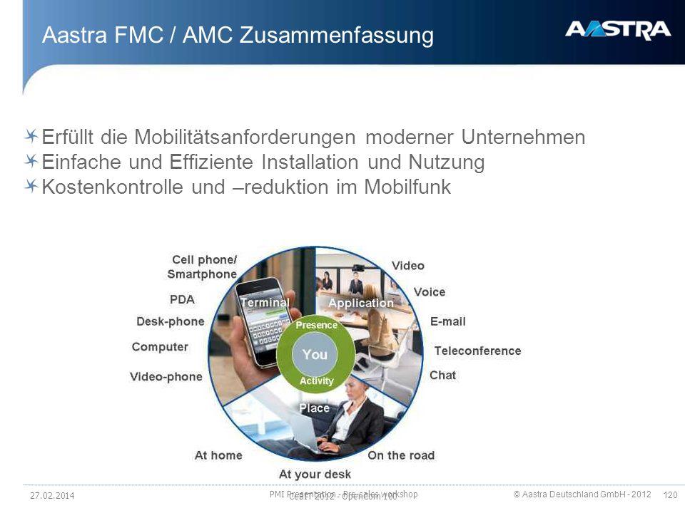 Aastra FMC / AMC Zusammenfassung