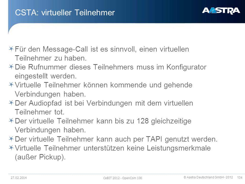 CSTA: virtueller Teilnehmer