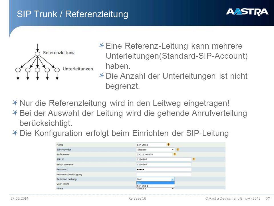 SIP Trunk / Referenzleitung