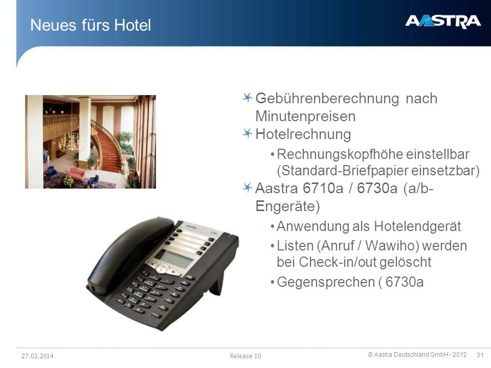 Neues fürs Hotel Gebührenberechnung nach Minutenpreisen Hotelrechnung