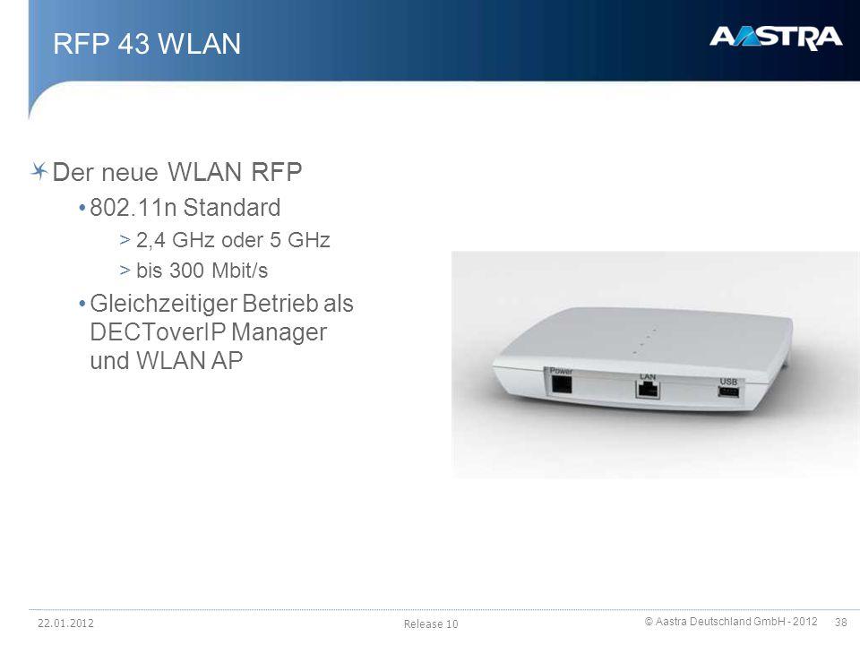 RFP 43 WLAN Der neue WLAN RFP 802.11n Standard