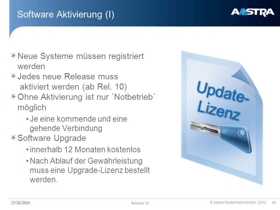 Software Aktivierung (I)