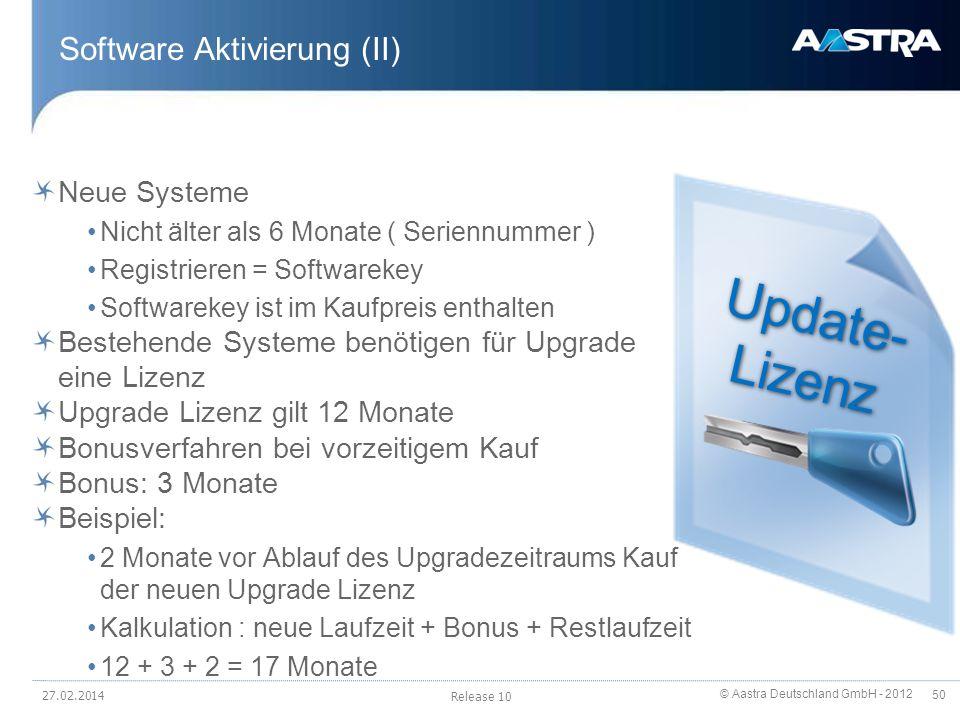 Software Aktivierung (II)