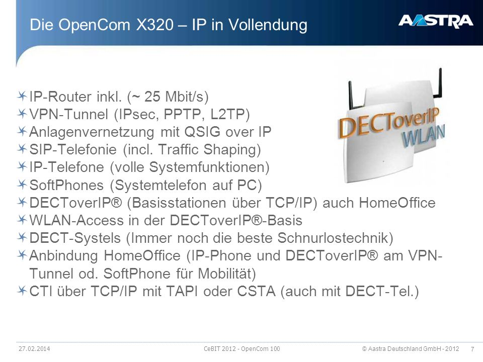 Die OpenCom X320 – IP in Vollendung