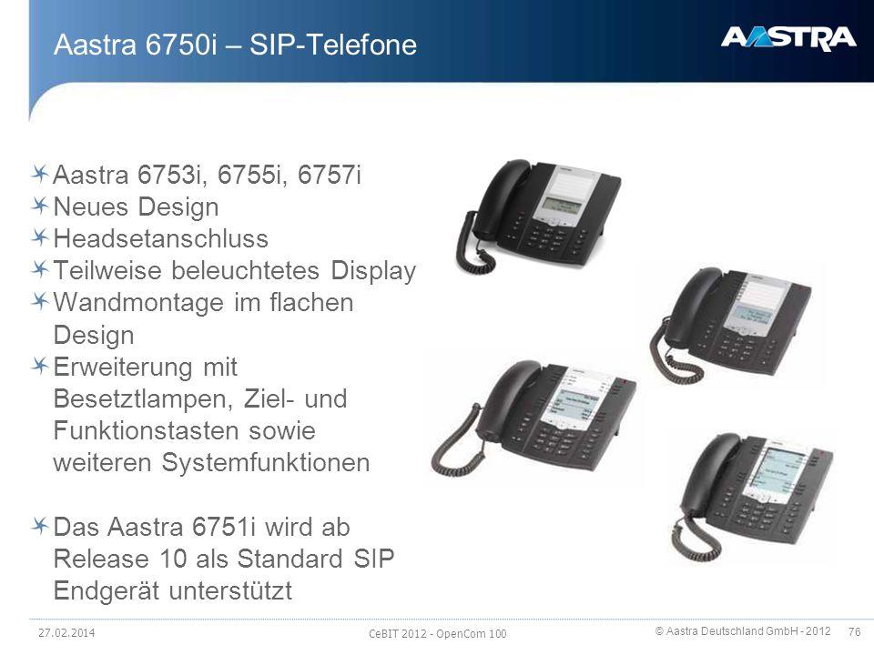 Aastra 6750i – SIP-Telefone