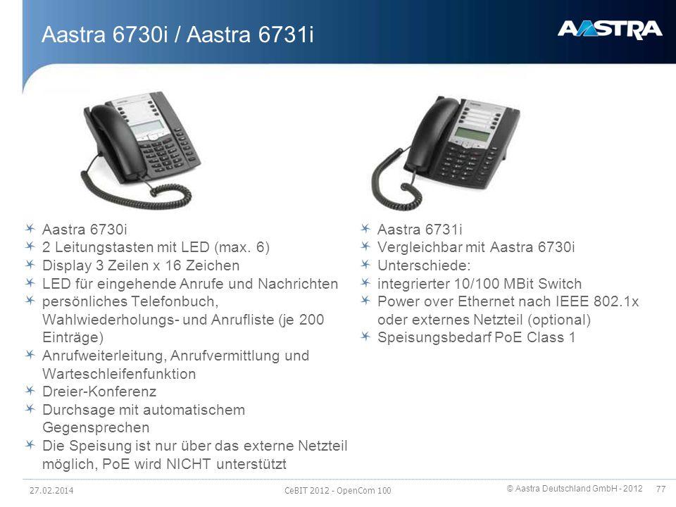 Aastra 6730i / Aastra 6731i Aastra 6730i