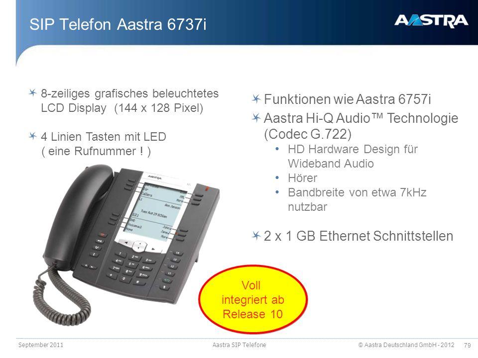 SIP Telefon Aastra 6737i Funktionen wie Aastra 6757i