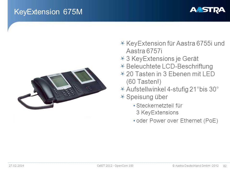 KeyExtension 675M KeyExtension für Aastra 6755i und Aastra 6757i