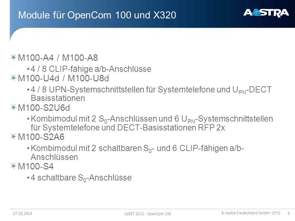Module für OpenCom 100 und X320