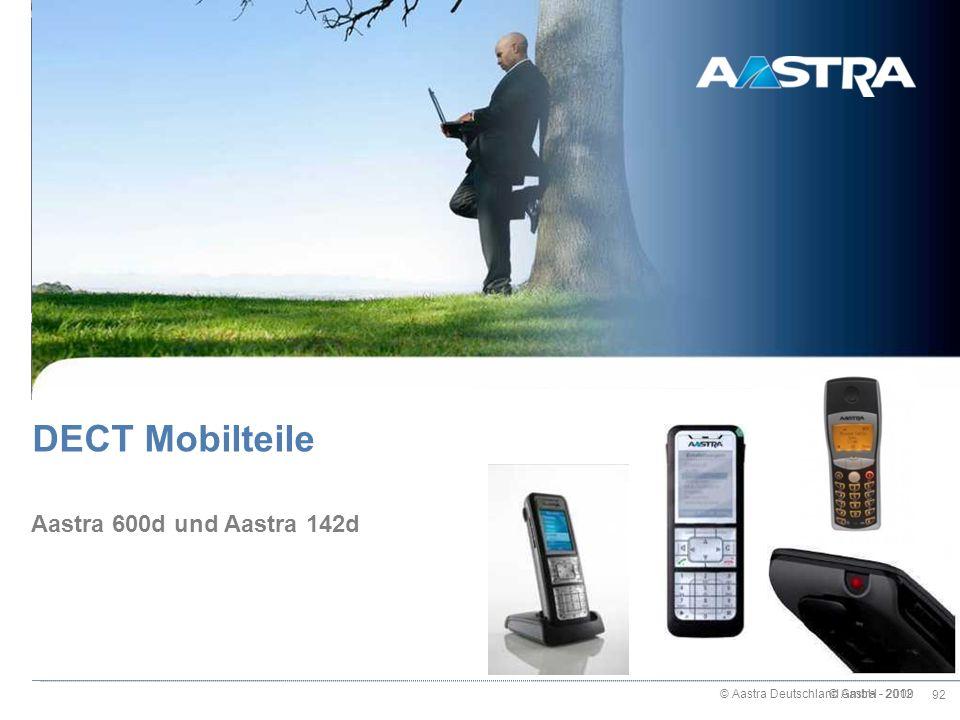 DECT Mobilteile Aastra 600d und Aastra 142d © Aastra - 2009