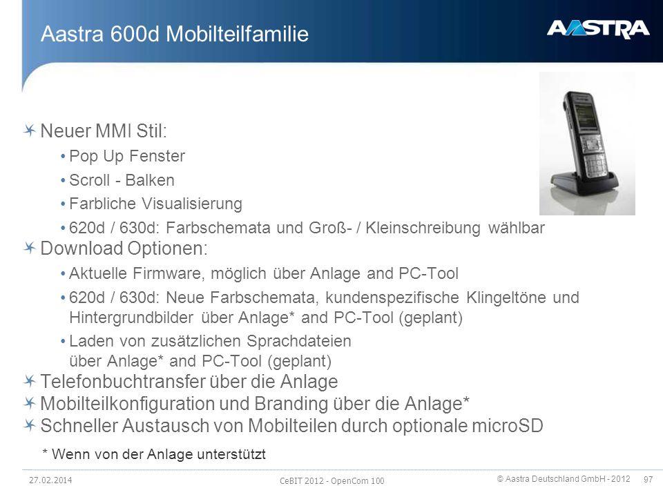 Aastra 600d Mobilteilfamilie