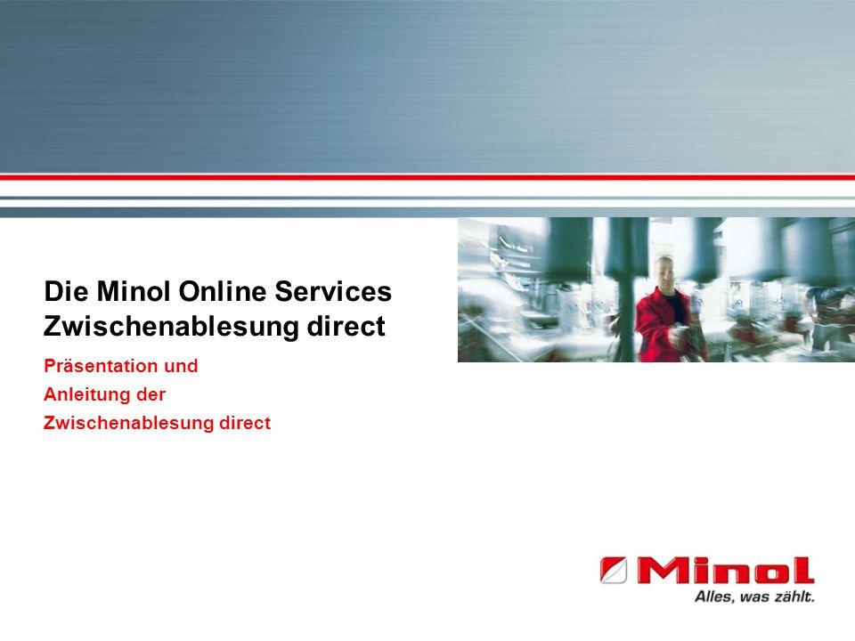 Die Minol Online Services Zwischenablesung direct