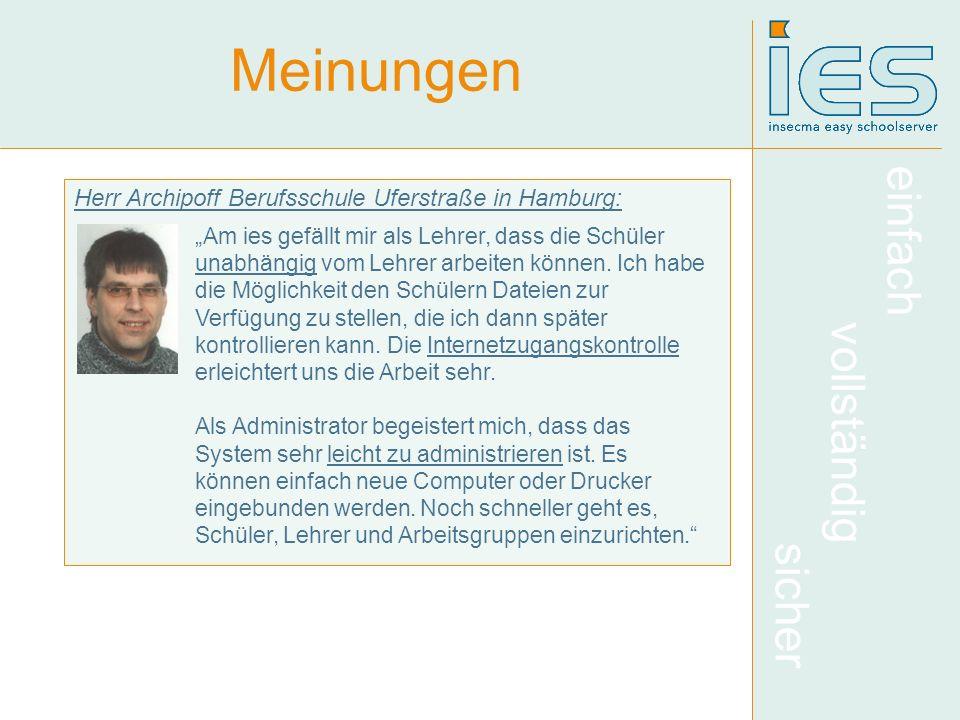 Meinungen Herr Archipoff Berufsschule Uferstraße in Hamburg: