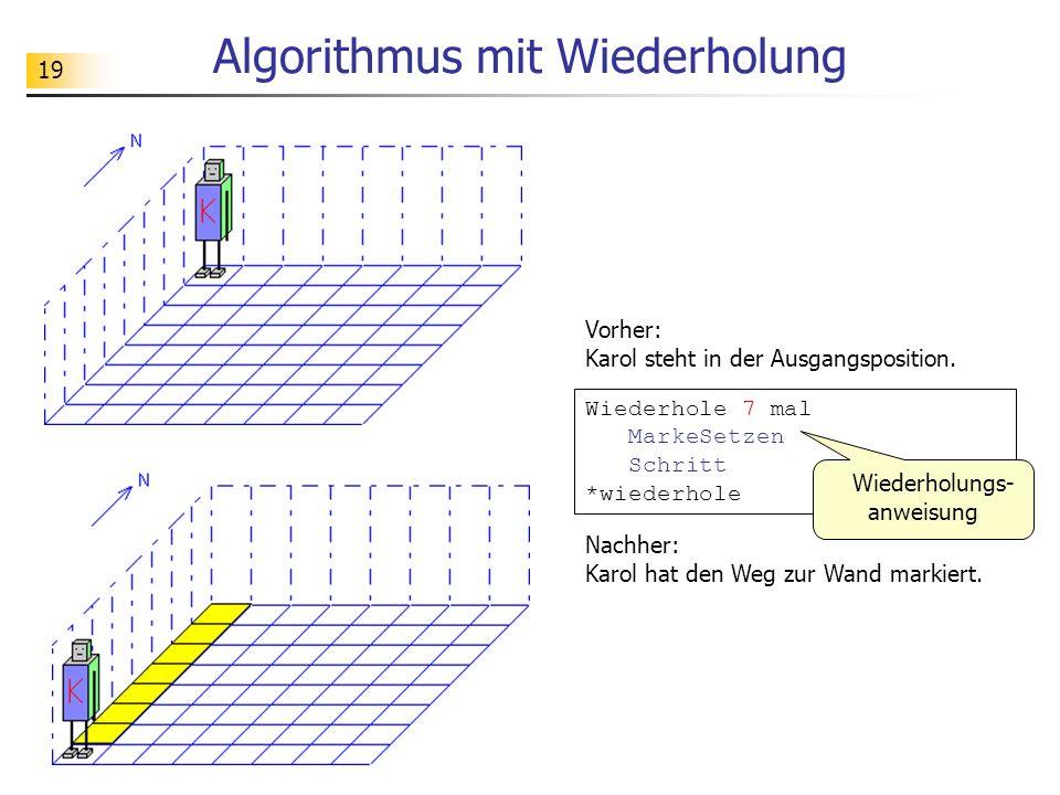 Algorithmus mit Wiederholung