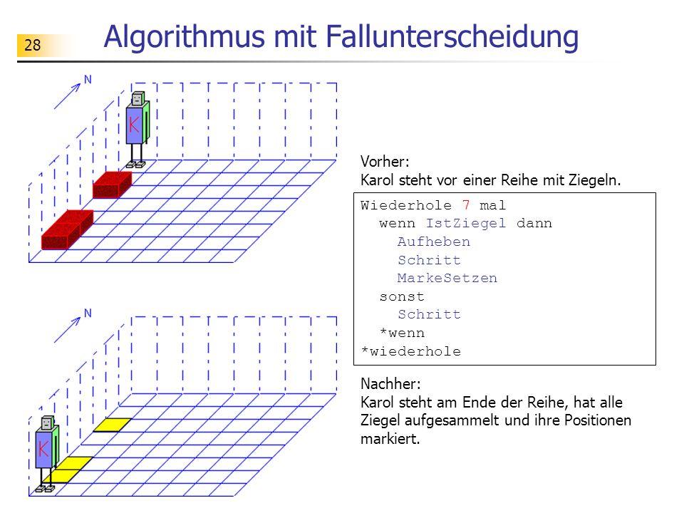 Algorithmus mit Fallunterscheidung