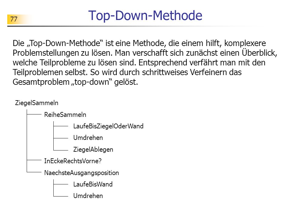 Top-Down-Methode