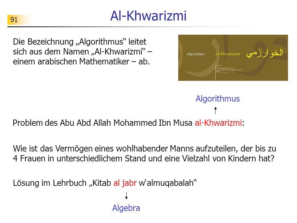"""Al-Khwarizmi Die Bezeichnung """"Algorithmus leitet sich aus dem Namen """"Al-Khwarizmi – einem arabischen Mathematiker – ab."""