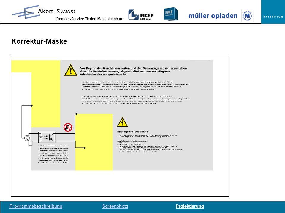 Korrektur-Maske