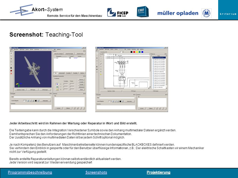 Screenshot: Teaching-Tool