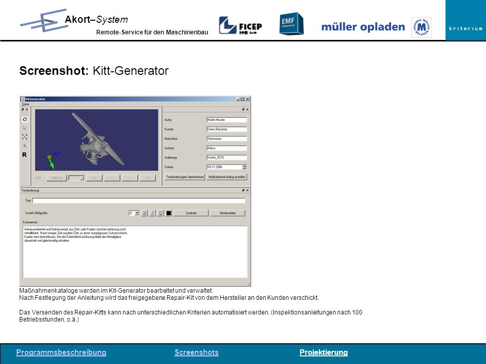Screenshot: Kitt-Generator