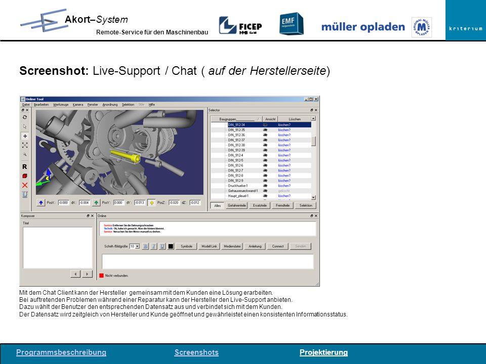Screenshot: Live-Support / Chat ( auf der Herstellerseite)