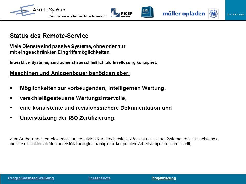Status des Remote-Service