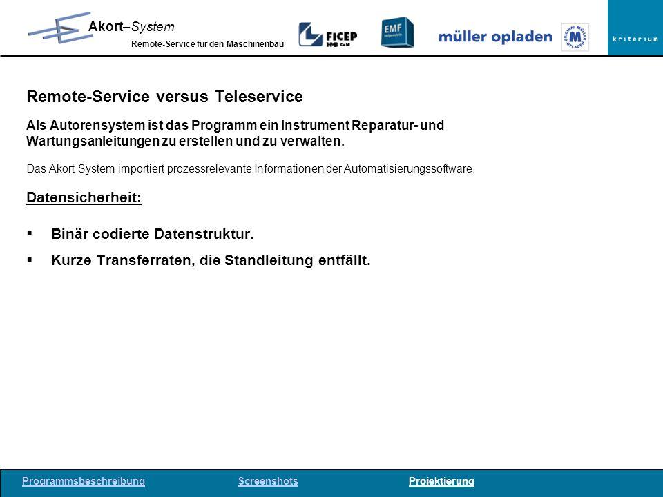 Remote-Service versus Teleservice