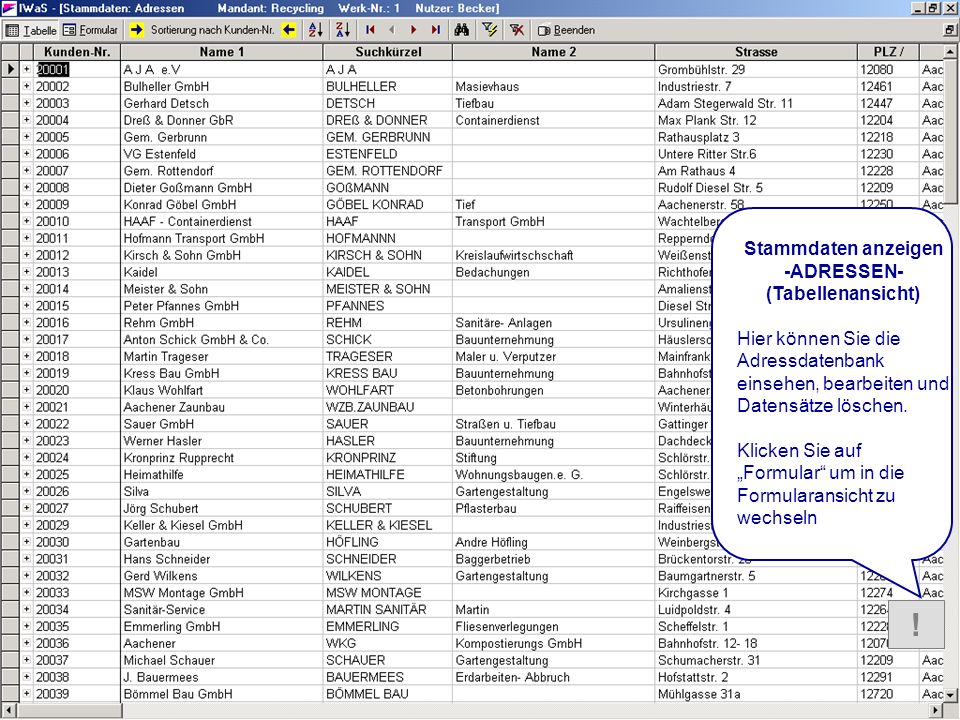 HILFE Stammdaten Adressen_Tabelle