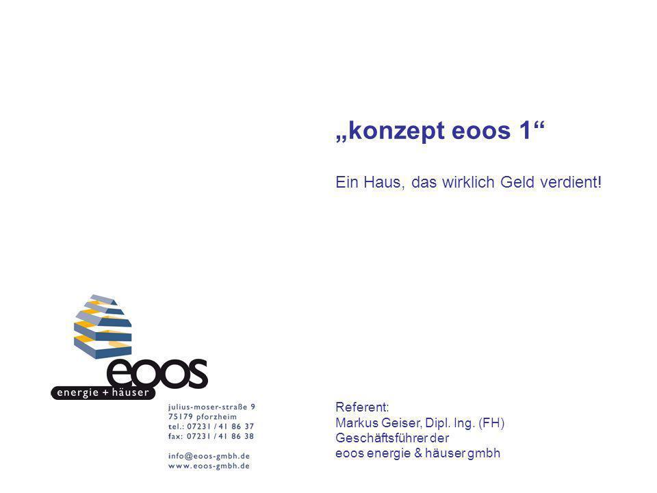 """""""konzept eoos 1 Ein Haus, das wirklich Geld verdient! Referent:"""