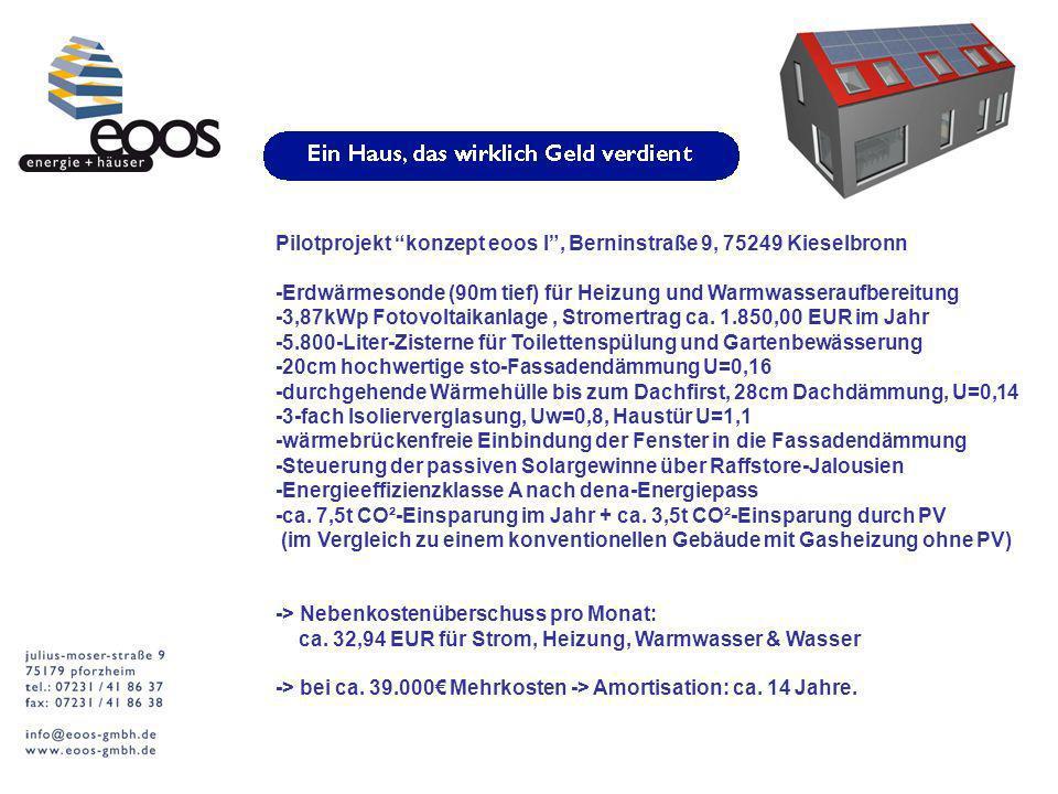 Pilotprojekt konzept eoos l , Berninstraße 9, 75249 Kieselbronn