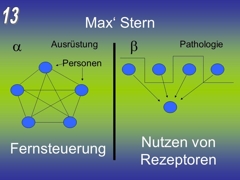 Max' Stern a b Nutzen von Rezeptoren Fernsteuerung 13 Ausrüstung