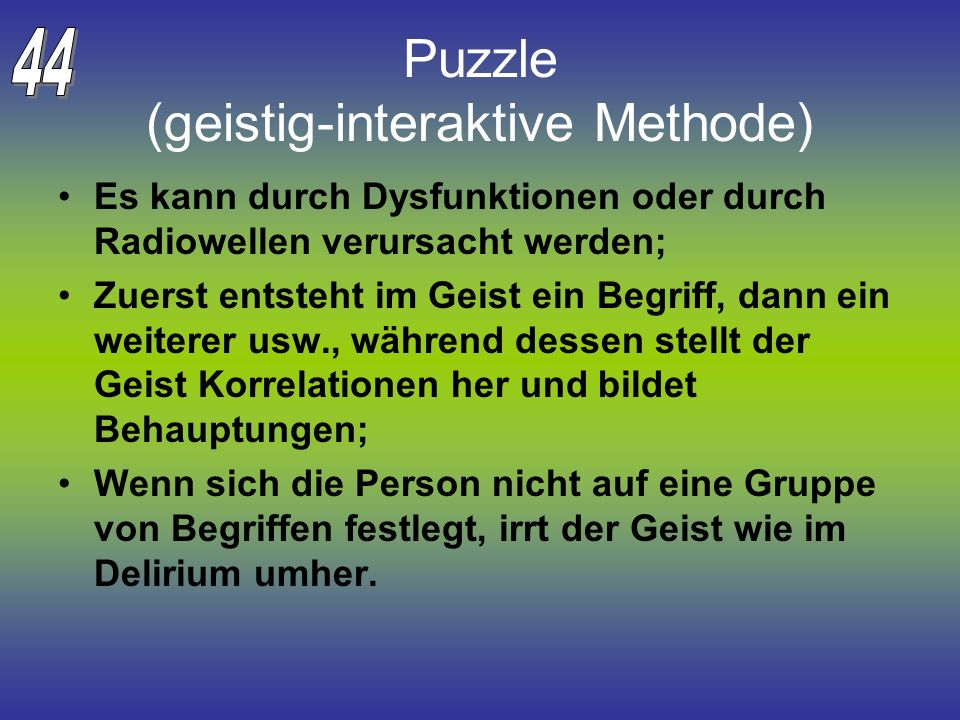 Puzzle (geistig-interaktive Methode)