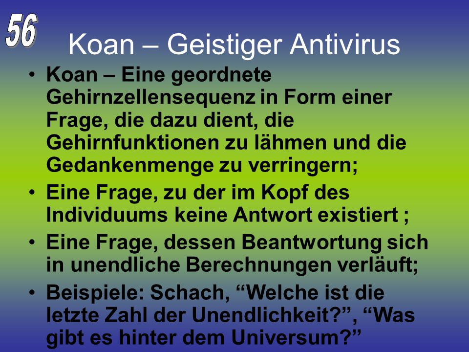 Koan – Geistiger Antivirus
