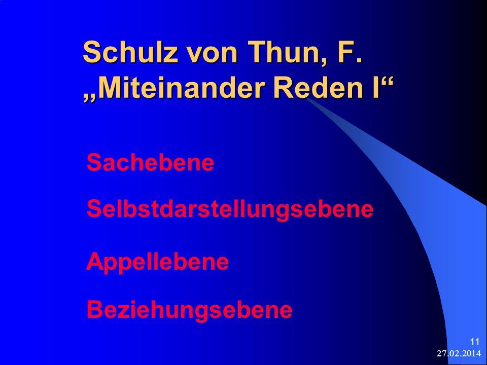 """Schulz von Thun, F. """"Miteinander Reden I"""