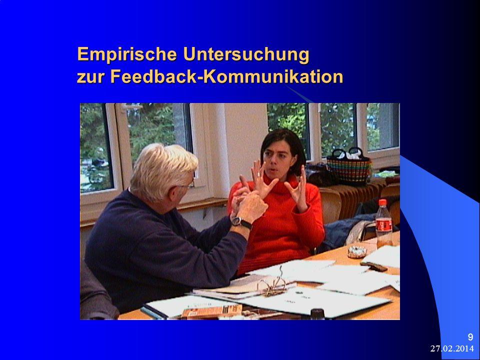 Empirische Untersuchung zur Feedback-Kommunikation