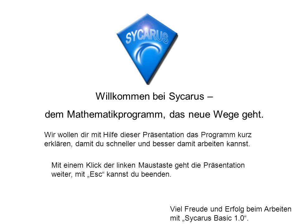 Willkommen bei Sycarus – dem Mathematikprogramm, das neue Wege geht.
