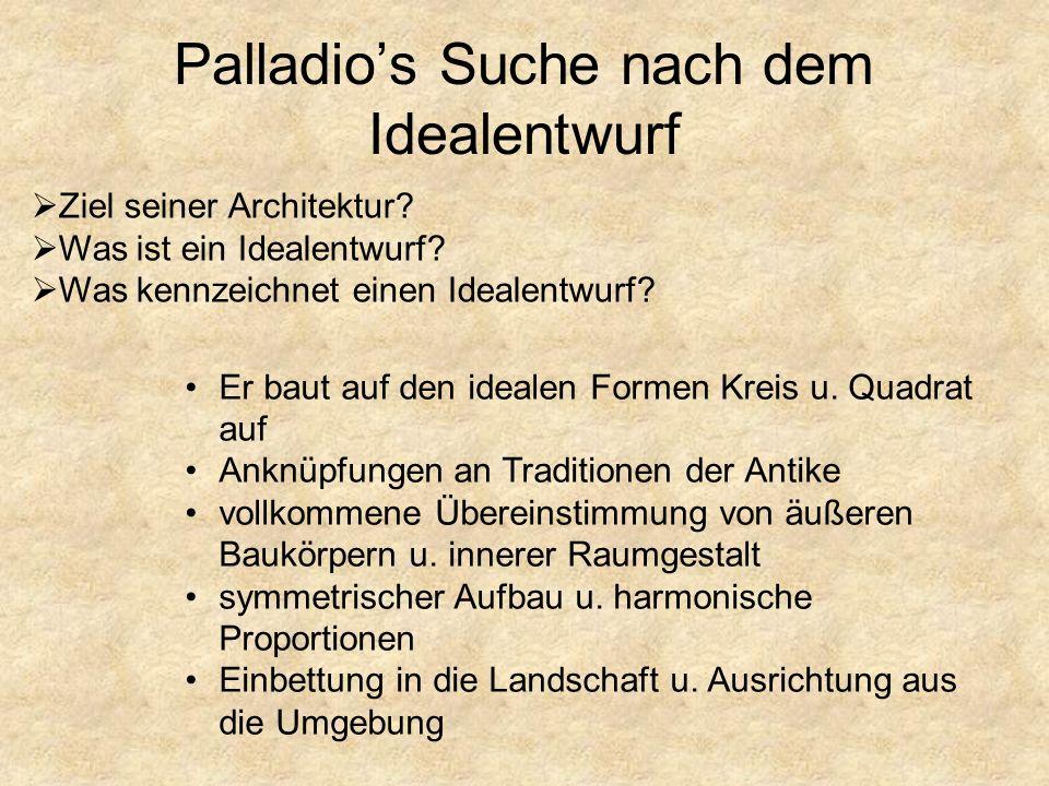 Palladio's Suche nach dem Idealentwurf