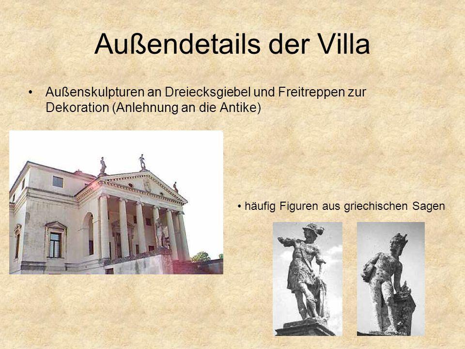 Außendetails der Villa