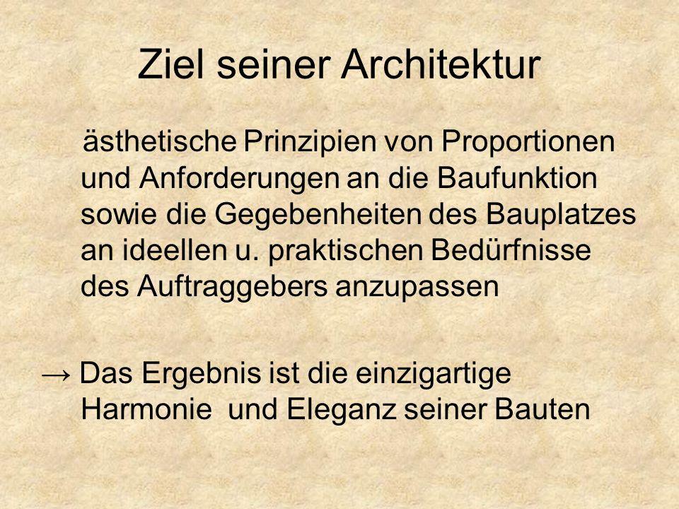 Ziel seiner Architektur