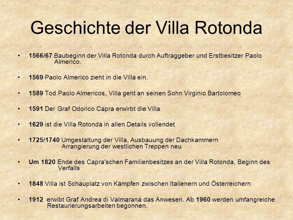 Geschichte der Villa Rotonda
