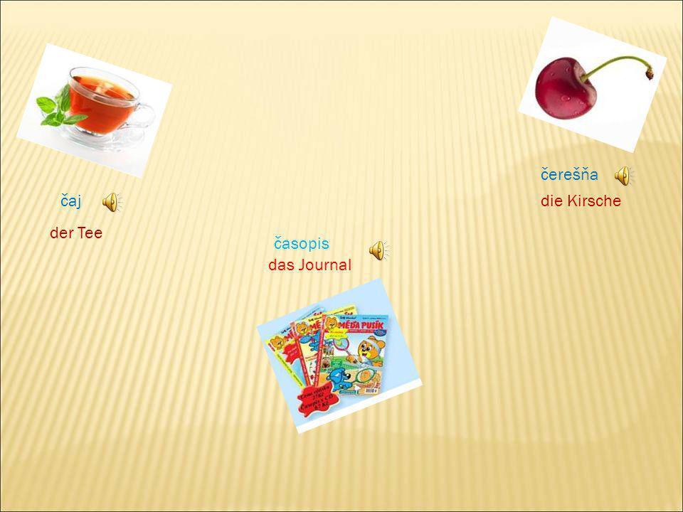 čerešňa čaj die Kirsche der Tee časopis das Journal