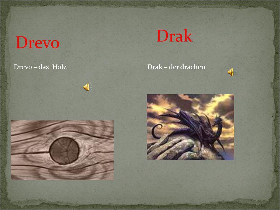 Drak Drevo Drevo – das Holz Drak – der drachen