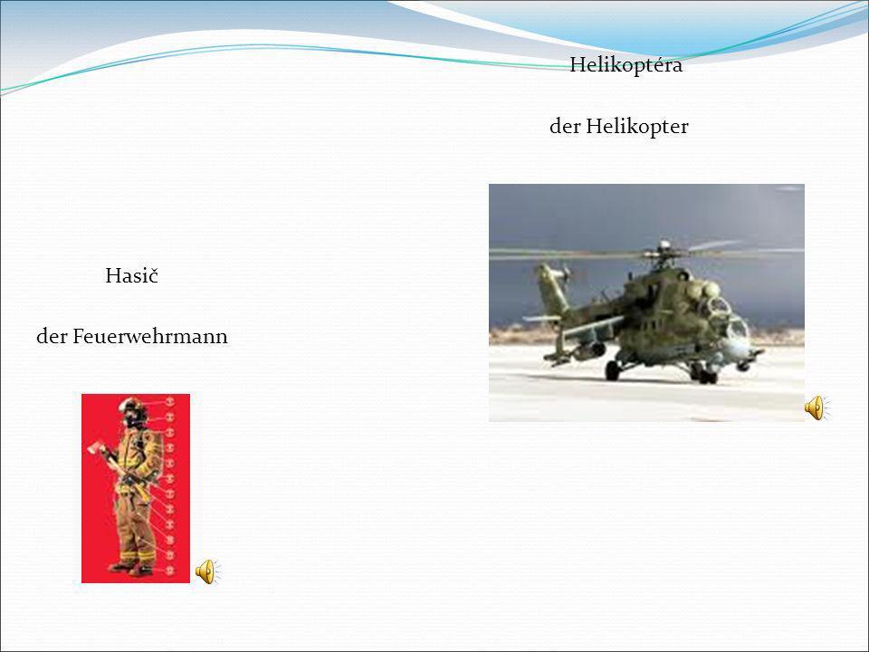 Helikoptéra der Helikopter Hasič der Feuerwehrmann